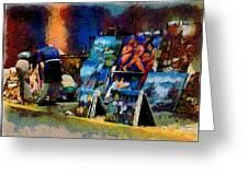 Vendedor De Pinturas Greeting Card
