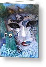 venetian carneval mask I Greeting Card