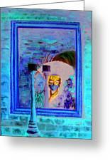 Venetian Girl Looking In Mirror Greeting Card