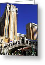 Venetian Hotel Greeting Card