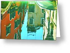 Venetian Mirror - Venice In Water Reflections Greeting Card