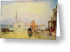 Venetian Scene, 19th Century Greeting Card