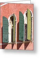 Venetian Windows Greeting Card