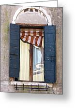 Venetian Windows Shutter Greeting Card