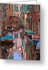 Venezia A Colori Greeting Card by Guido Borelli
