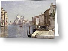 Venice - View Of Campo Della Carita Looking Towards The Dome Of The Salute Greeting Card