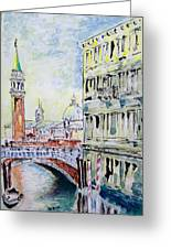 Venice 7-2-15 Greeting Card by Vladimir Kezerashvili