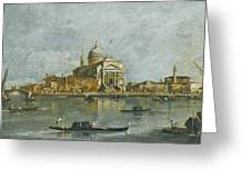 Venice. A View Of The Church Of San Giorgio Maggiore Greeting Card