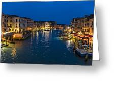 Venice And The Grand Canal In The Evening Greeting Card