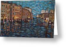 Venice At Night Greeting Card