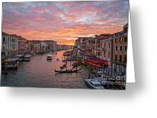 Venice At Sunset - Italy Greeting Card