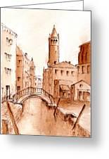 Venice Backwater Greeting Card