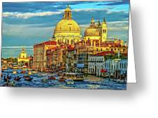 Venice Basilica Greeting Card