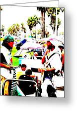 Venice Beach Artsy Crowd Greeting Card