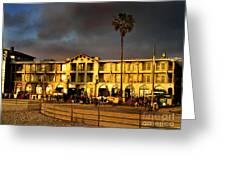 Venice Beach. Golden Sunset Greeting Card