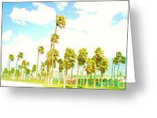 Venice Beach In Windy Pastels Greeting Card