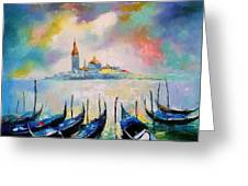 Venice Before The Rain Greeting Card