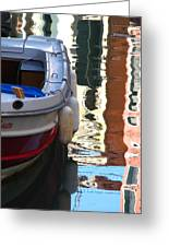 Venice Boat Reflection Greeting Card