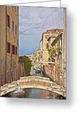 Venice Bridge Crossing 1 Greeting Card