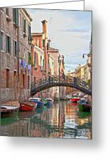 Venice Bridge Crossing 5 Greeting Card