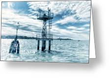 Venice - Buoy And Mooring In The Lagoon Greeting Card