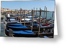Venice Cab Stand Greeting Card