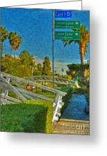 Venice Canal Bridge Signs Greeting Card