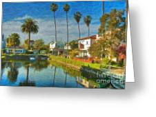 Venice Canal Houses Watercolor  Greeting Card