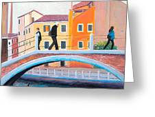 Venice Canal Painting Greeting Card
