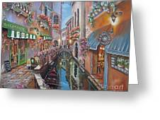 Venice Canal Reflections Greeting Card
