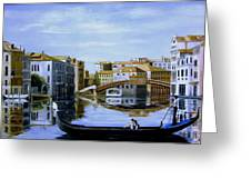 Venice Canal Ride Greeting Card