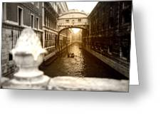 Venice Canal With Sunlight Greeting Card