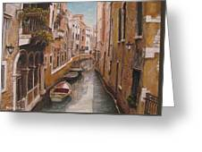 Venice-canale Veneziano Greeting Card by Italian Art