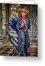 Venice Carnival Characters_dsc1364_02282017  Greeting Card