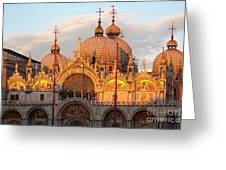 Venice Church Of St. Marks At Sunset Greeting Card