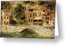 Venice City Of Bridges Greeting Card