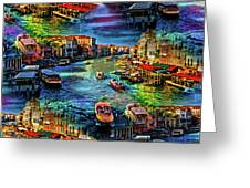 Venice Coming And Going Greeting Card