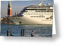 Venice Cruise Ship 2 Greeting Card