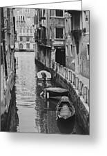 Venice Docked Boats Greeting Card