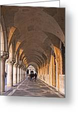 Venice - Doge's Palace Arcade Greeting Card