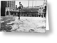 Venice: Flood, 1966 Greeting Card