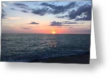 Venice Florida Sunset Greeting Card