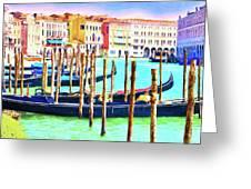 Venice Gondolas Greeting Card