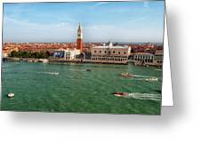 Venice Grand Canal And St Mark's Campanile Greeting Card