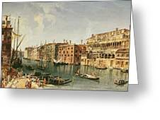 Venice, Grand Canal And The Fondaco Dei Turchi  Greeting Card
