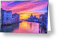 Venice Grand Canal At Sunset Greeting Card