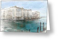 Venice Grand Canal Watercolour Painting Greeting Card