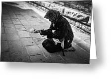 Venice Gypsy Woman Greeting Card