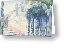 Venice Greeting Card by Henri-Edmond Cross