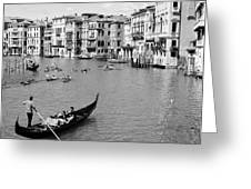Venice In Black And White Greeting Card
